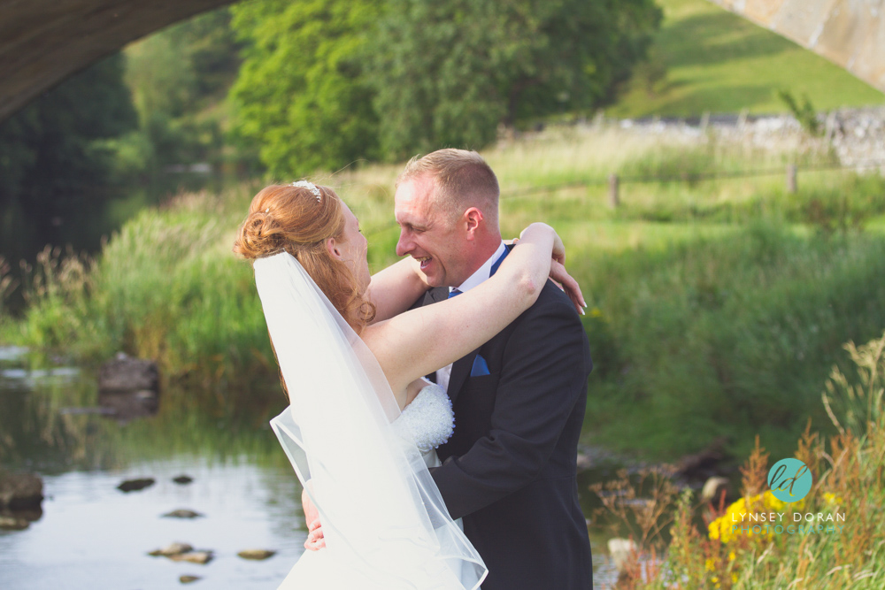 wedding photography burnsall bridge north yorkshire